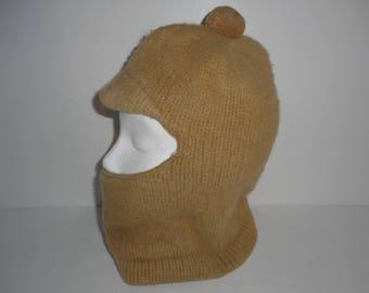 Vintage Wigwam Wool Ski Mask Bank Robbers Mask