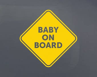 Baby on Board ·Car Decal · Window Decal