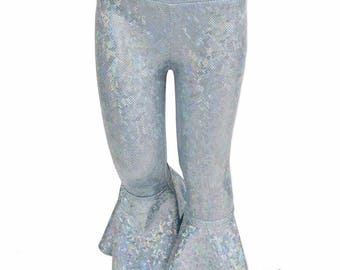 Kids Frostbite Shattered Glass Bell Bottom Flared Rock Star Pants  Sizes 2T 3T 4T and 5-12   154697