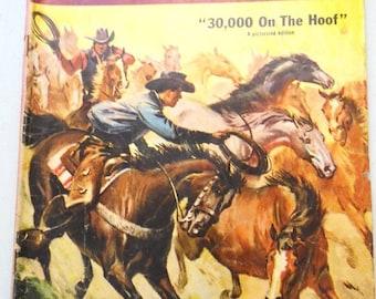 "ON SALE! Vintage Zane Grey Comic Book, ""30,000 On The Hoof"" - Vol 1, No. 34-June-Aug, 1957 - Dell Comics"