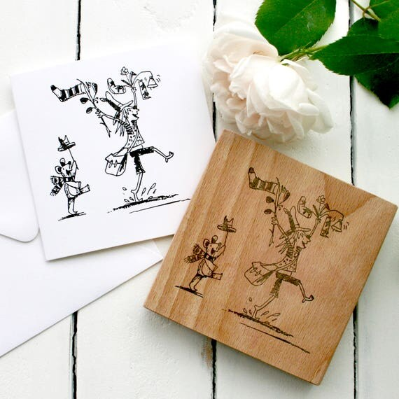 Illustrators Clear Rubber Stamp - Branding Clear Rubber Stamp - Personalised Stamp - Personalised Branding - Little Stamp Store