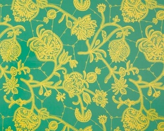 Souvenir in Mineral (Laminate Fabric) by Amy Butler from the Lark collection for Free Spirit