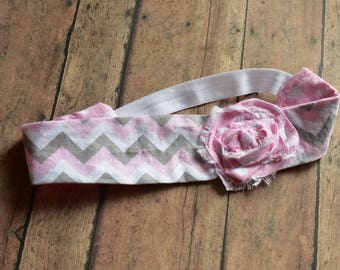 Girls Shabby Chic Fabric Headband