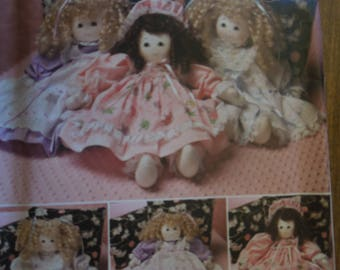 """Simplicity 2462, 21"""" stuffed doll with clothes, UNCUT sewing pattern, craft supplies"""