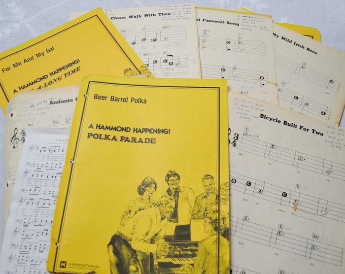 Vintage Music Lesson Sheets Papers Scrap Booking Supplies Craft DIY Ephermera PanchosPorch