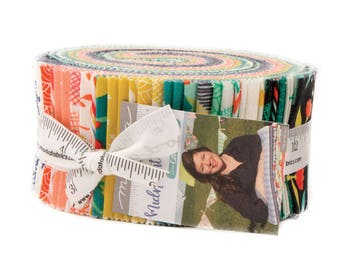 "Midnight Garden Jelly Roll by One Canoe Two for Moda, 40 - 2 1/2"" x 42"" strips"