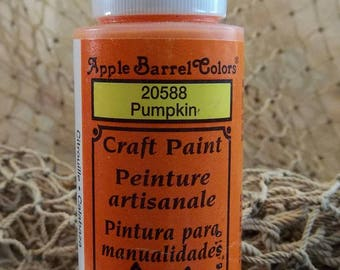 Plaid Apple Barrel Colors Craft Paint - Acrylic Paint - Pumpkin 2oz New Sealed