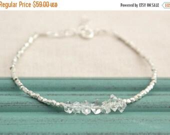 Close Out Sale Sterling Silver Herkimer Diamond Bracelet