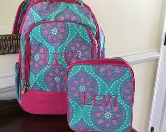Girls Bookbags Monogrammed  - Marlee Backpack - Girls Backpack Personalized - Marlee Bookbag and Lunchbox - Travel Backpack - Bookbags