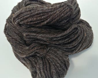 Handspun virgin Jacob yarn, heavy worsted weight, 2 ply