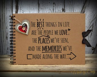 Best Things In Life Scrapbook, Photo Album, Photo Book, Best Friend, Birthday, Christmas, Gift Idea, Memory Book, Memory Album, Keepsake