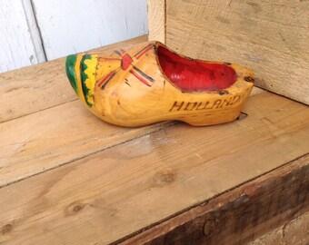 Vintage Wooden Shoe, Made in Holland, Dutch Souvenir - Scottsdale Marketplace