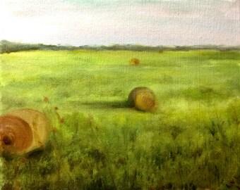 Haystacks in Green