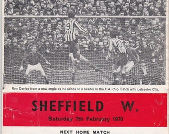 Vintage Football (soccer) Programme - Southampton v Sheffield Wednesday, 1969/70 season