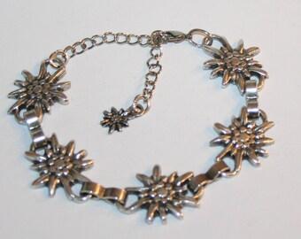 Bracelet with edelweiss