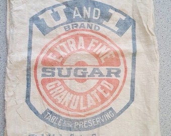 Vintage Utah and Idaho Brand Sugar Cloth Bag