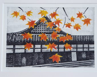 Autumn in Kyoto - Temple in Japan, Autumn and Maple Leaves