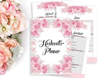 Wedding Planner Printable DIY Book Budget Organizer Engagement Gift