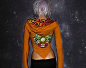 ECLIPSE Cropped Mandala Hoodie // ORGANIC COTTON