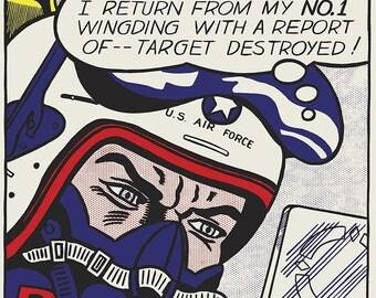 ROY LICHTENSTEIN - 'Bratatat!' - rare original vintage silkscreen print - c1982 (Fratelli Alinari First edition. Andy Warhol interest)