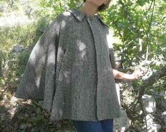 Wool tweed Cape