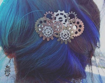 Gears and Cogs hair clip