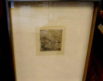 EDGAR-DEGAS-1834-1917 Original Etching - Le-Sportsman Very Rare