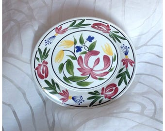 Vintage 1992 Portmeirion 'Welsh Dresser' 18cm Plate, Designed by Angharad Menna, Made in Britain