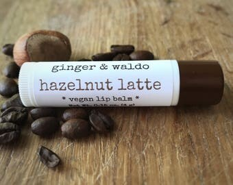 Hazelnut Latte Lip Balm - Hazelnut Latte - Coffee - Lip Balm - Vegan Lip Balm - Beeswax Lip Balm