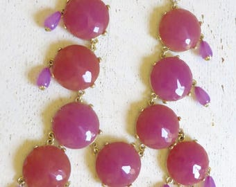 Joan Rivers Classics Collection Pink and Gold Toned Metal Necklace