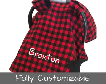 Personalized Car Seat Cover Baby Gift Baby Car Seat Canopy Carseat Cover Carseat Canopy Infant Car Seat Cover Bucket Seat Covers