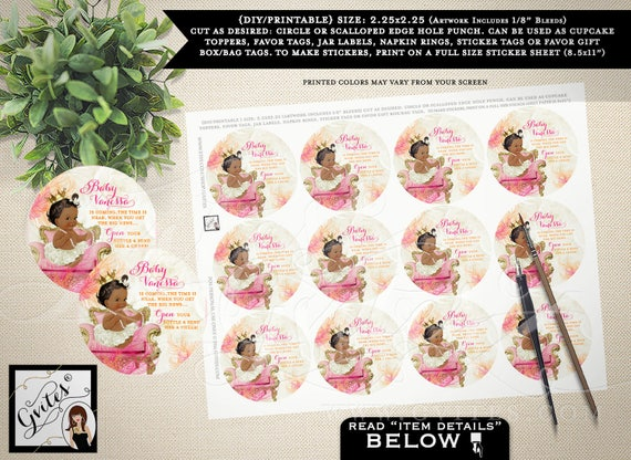 """Wine labels baby shower, baby is coming the time is near sticker, party favors, gift tags labels. PRINTABLE 2.25x2.25"""" 12/Per Sheet."""
