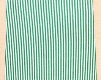 Fabric adhesive pattern: striped green 210 x 290 mm (A4)