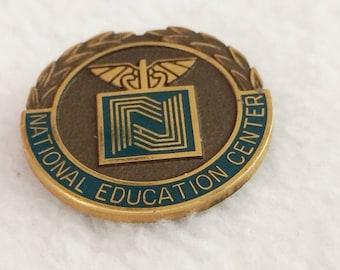 Vintage National Education Center Pin  (Bryman School)