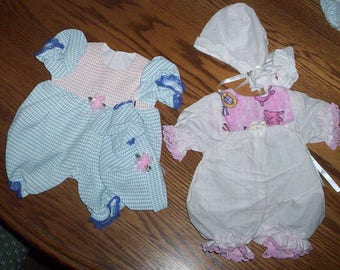 "A.G. Bitty Baby 16"" DOLL Short Sleeper Set .. Also Fits PREEMIE'S"