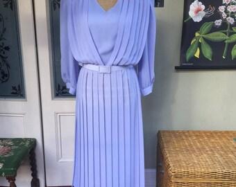 Vintage Daze of London Cornflower Blue Midi Dress - UK Size 14/16