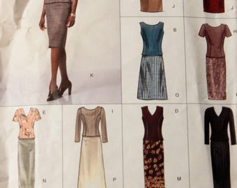 Vogue 2218 Easy Options top and skirt pattern Uncut Sizes 18, 20 and 22