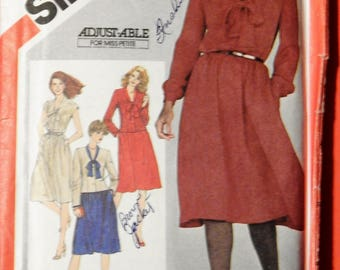 Simplicity 5166 Pullover dress and unlined jacket pattern Uncut Size 12