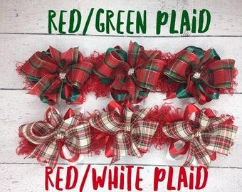 Christmas Plaid bows