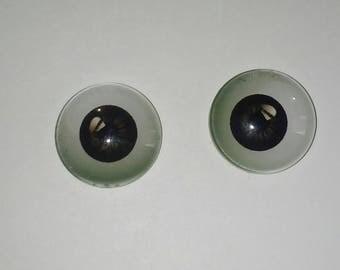 X 1 dark brown eye 16mm Cabochon
