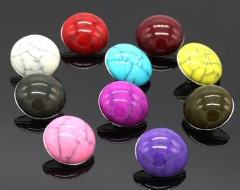 X 1 snap resin domed choice