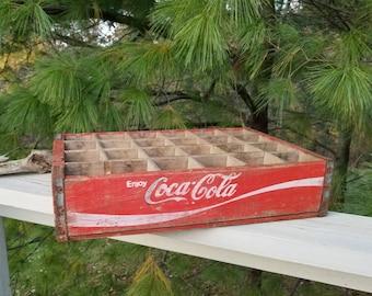 Red & White Coca-Cola Soda Crate