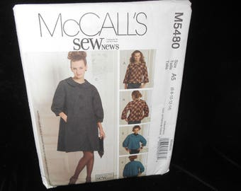 Misses Jacket McCalls M5480 Womens Lined Jacket Coat Size 6-14