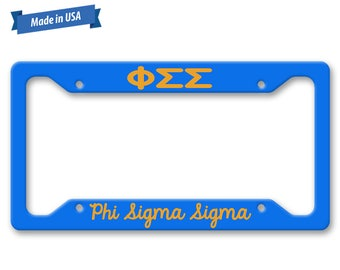 Phi Sigma Sigma License Plate Frame - Personalized Sorority Auto Tag LP1185