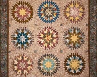 Summer Star Quilt Pattern - Edyta Sitar - Laundry Basket Quilts - LBQ 0247