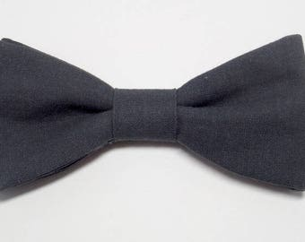 Anthracite grey bowtie with straight edges