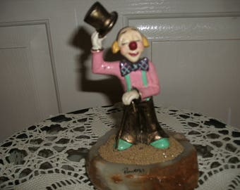 Ron Lee's Gold Plated Clown Figurine