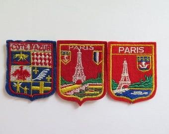 Paris Patches//Vintage Cote D'Azur Patch//Souvenir Patch