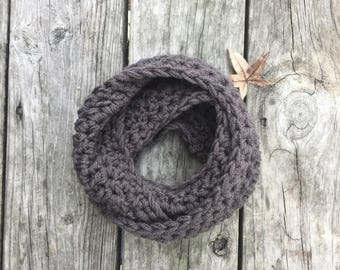 Toddler Infinity Scarf Graphite Toddler Scarf Crochet Scarf