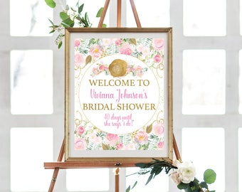 Bridal Shower Sign - Bridal Shower Sign Printable - Bridal Shower Sign Gold - Bridal Shower Welcome Sign - Bridal Shower Welcome Sign Gold